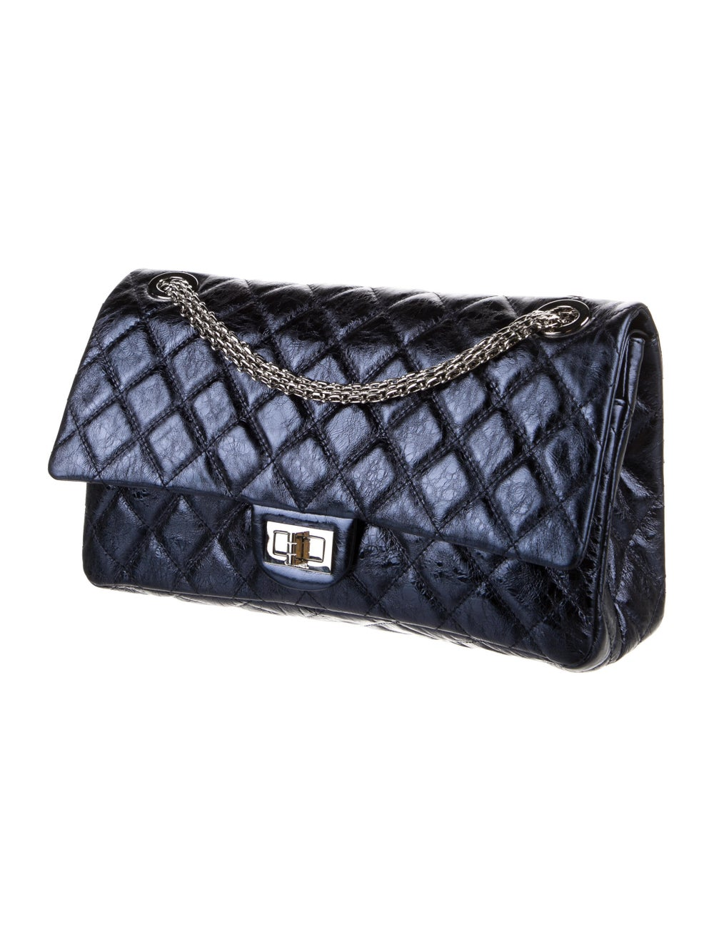 Chanel Reissue 228 Double Flap Bag Blue - image 3