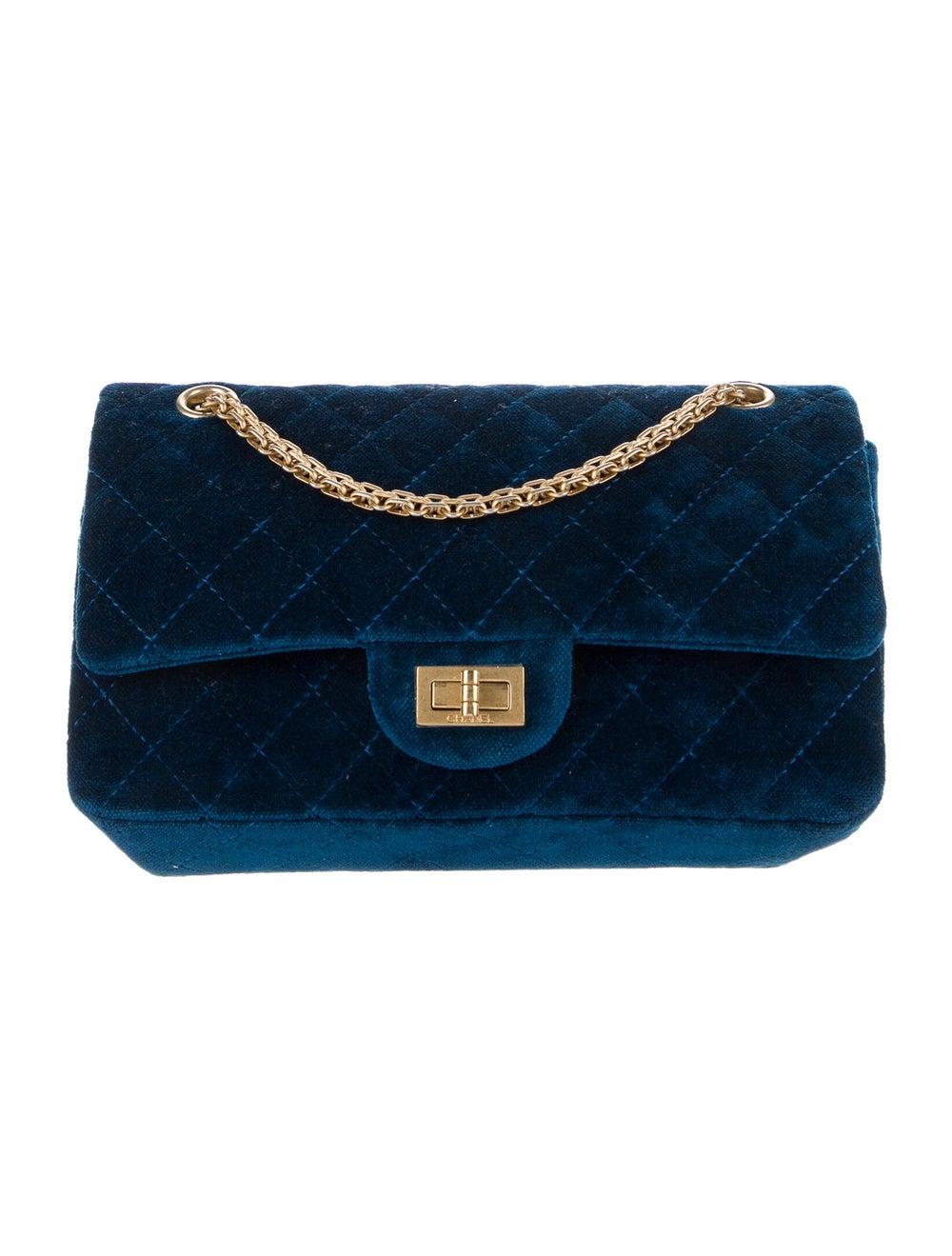 Chanel Velvet Reissue 225 Flap Bag Blue - image 1