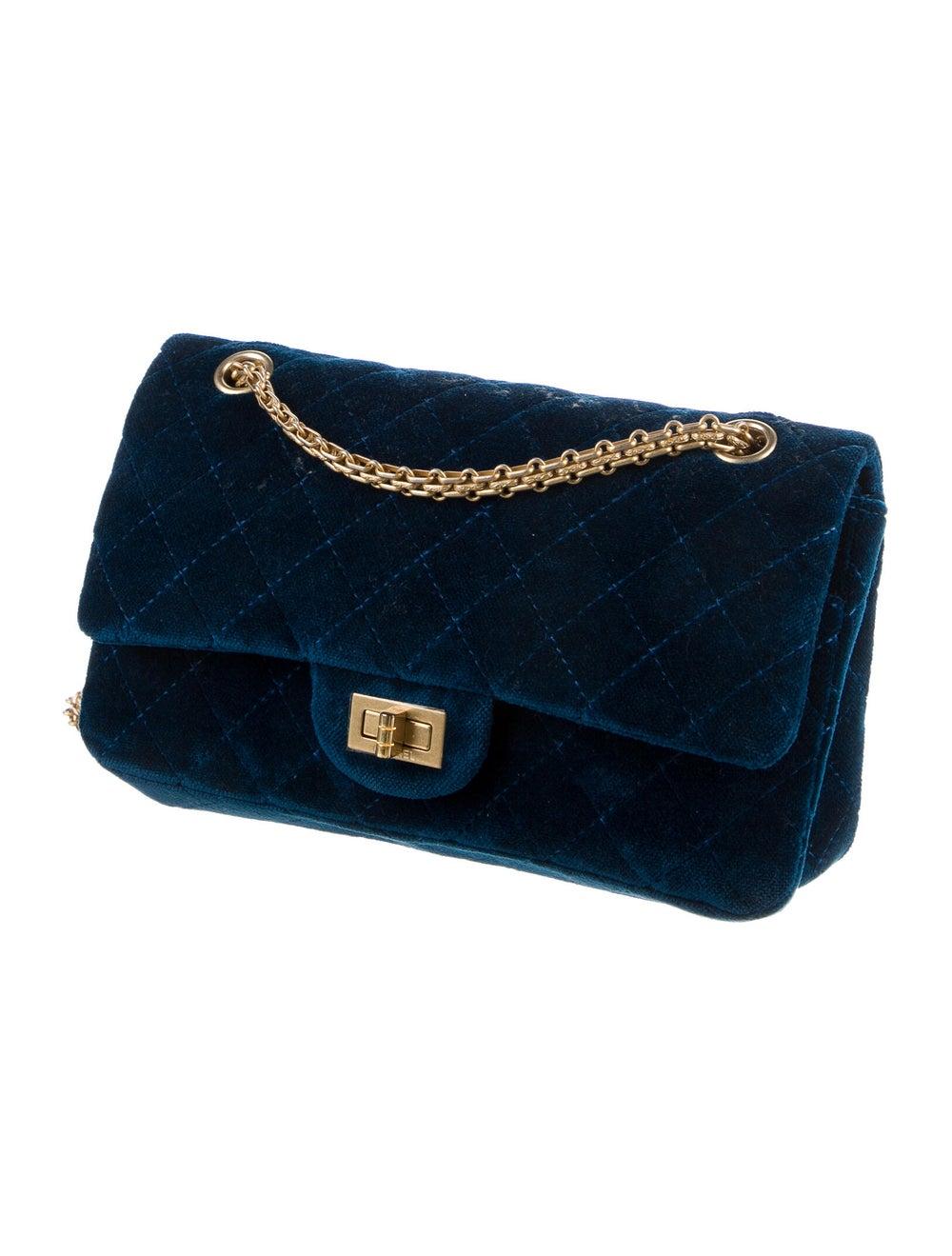 Chanel Velvet Reissue 225 Flap Bag Blue - image 3