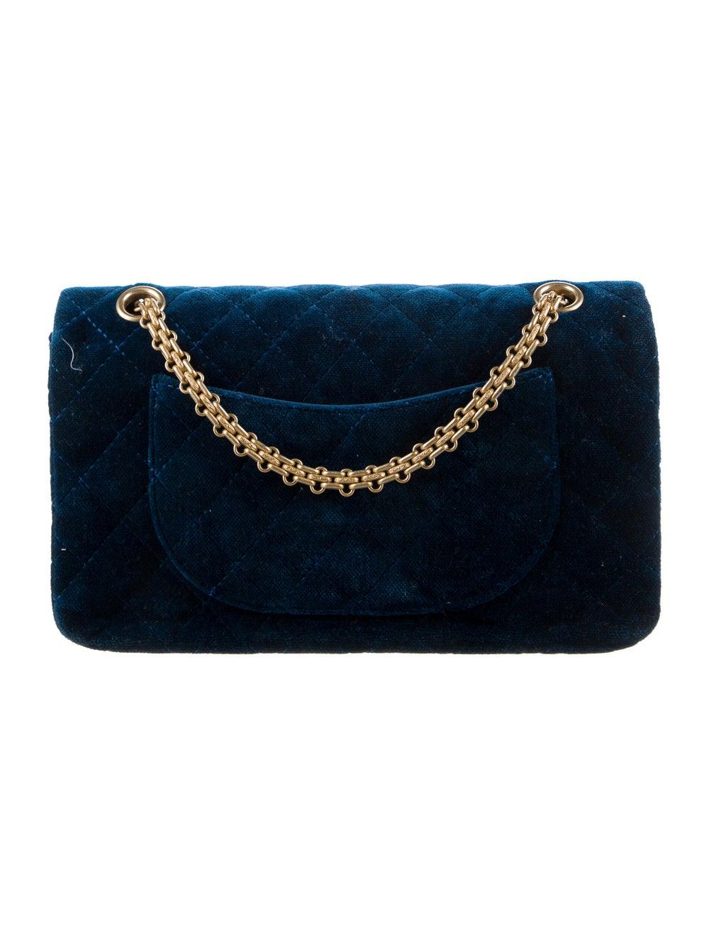 Chanel Velvet Reissue 225 Flap Bag Blue - image 4