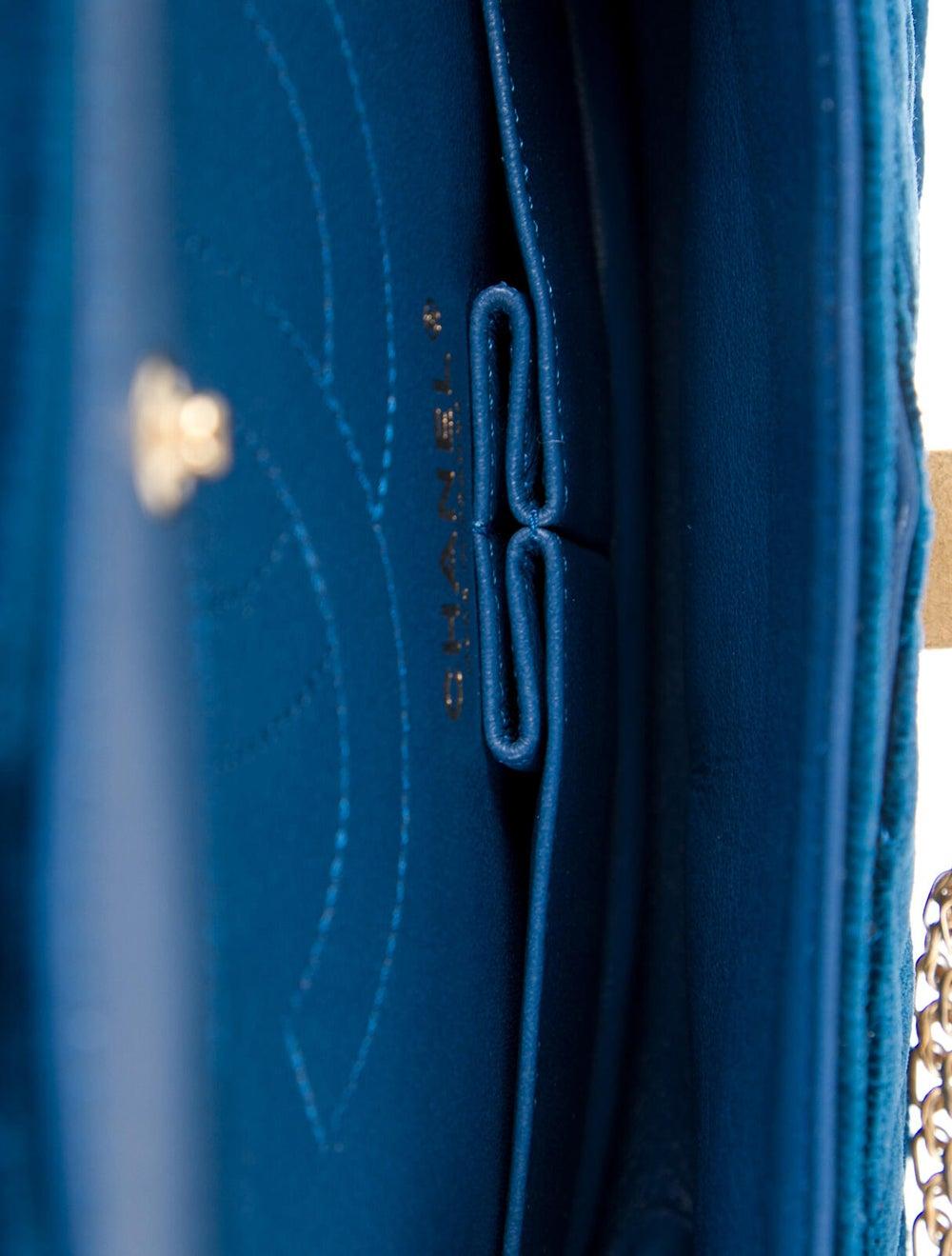 Chanel Velvet Reissue 225 Flap Bag Blue - image 5
