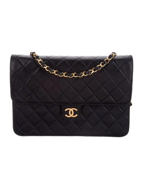 Chanel Vintage Single Flap Bag Blue - image 1