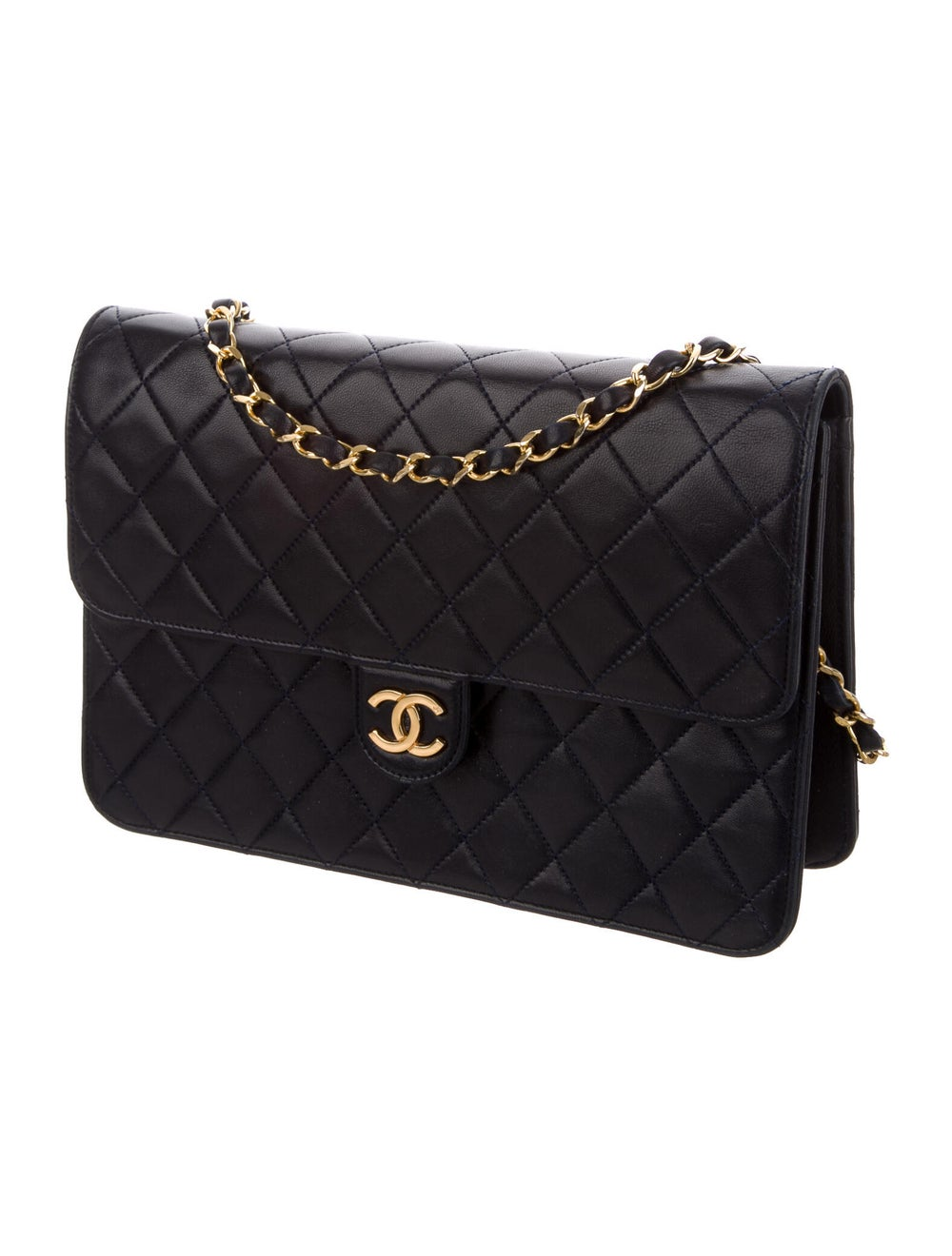 Chanel Vintage Single Flap Bag Blue - image 3