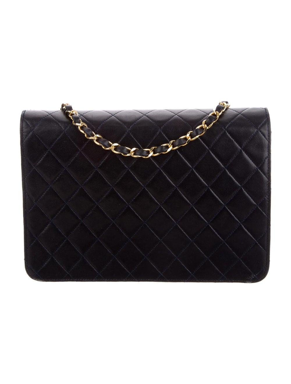 Chanel Vintage Single Flap Bag Blue - image 4