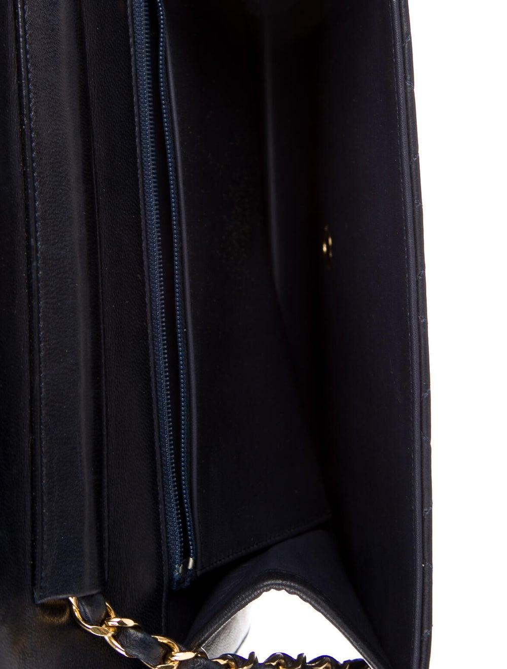 Chanel Vintage Single Flap Bag Blue - image 5