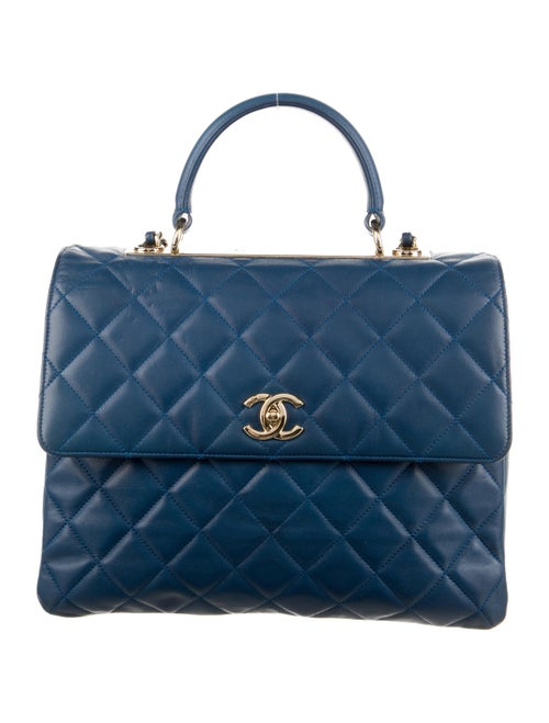 Chanel Large Trendy CC Flap Bag Blue - image 1