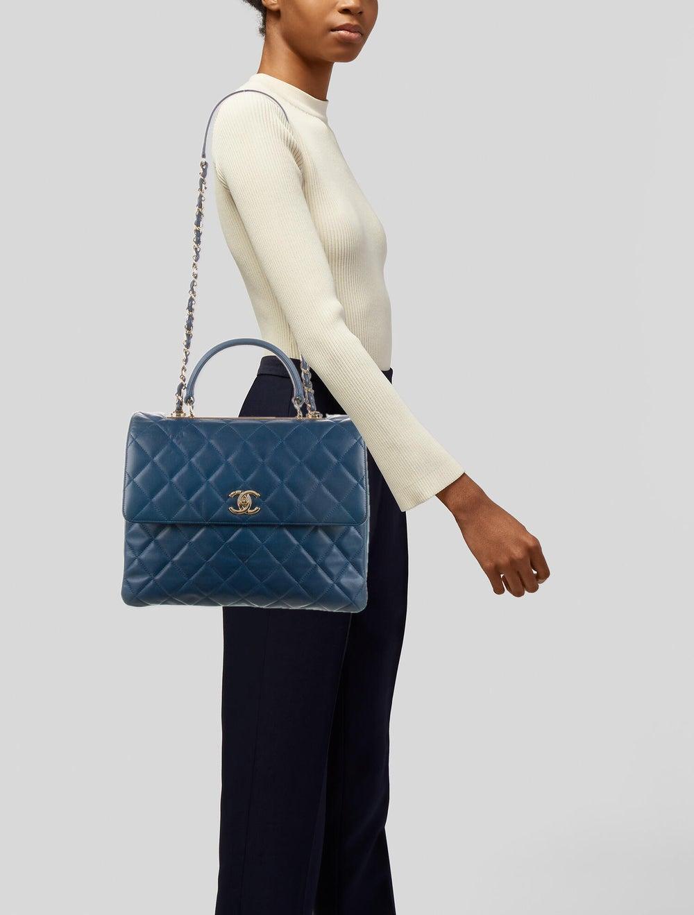 Chanel Large Trendy CC Flap Bag Blue - image 2