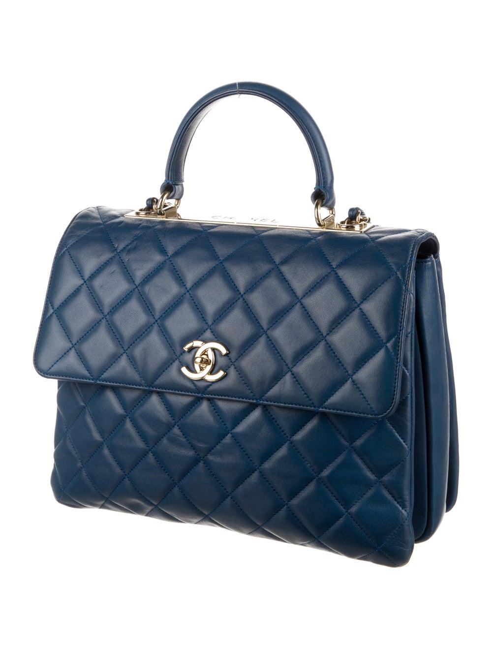 Chanel Large Trendy CC Flap Bag Blue - image 3