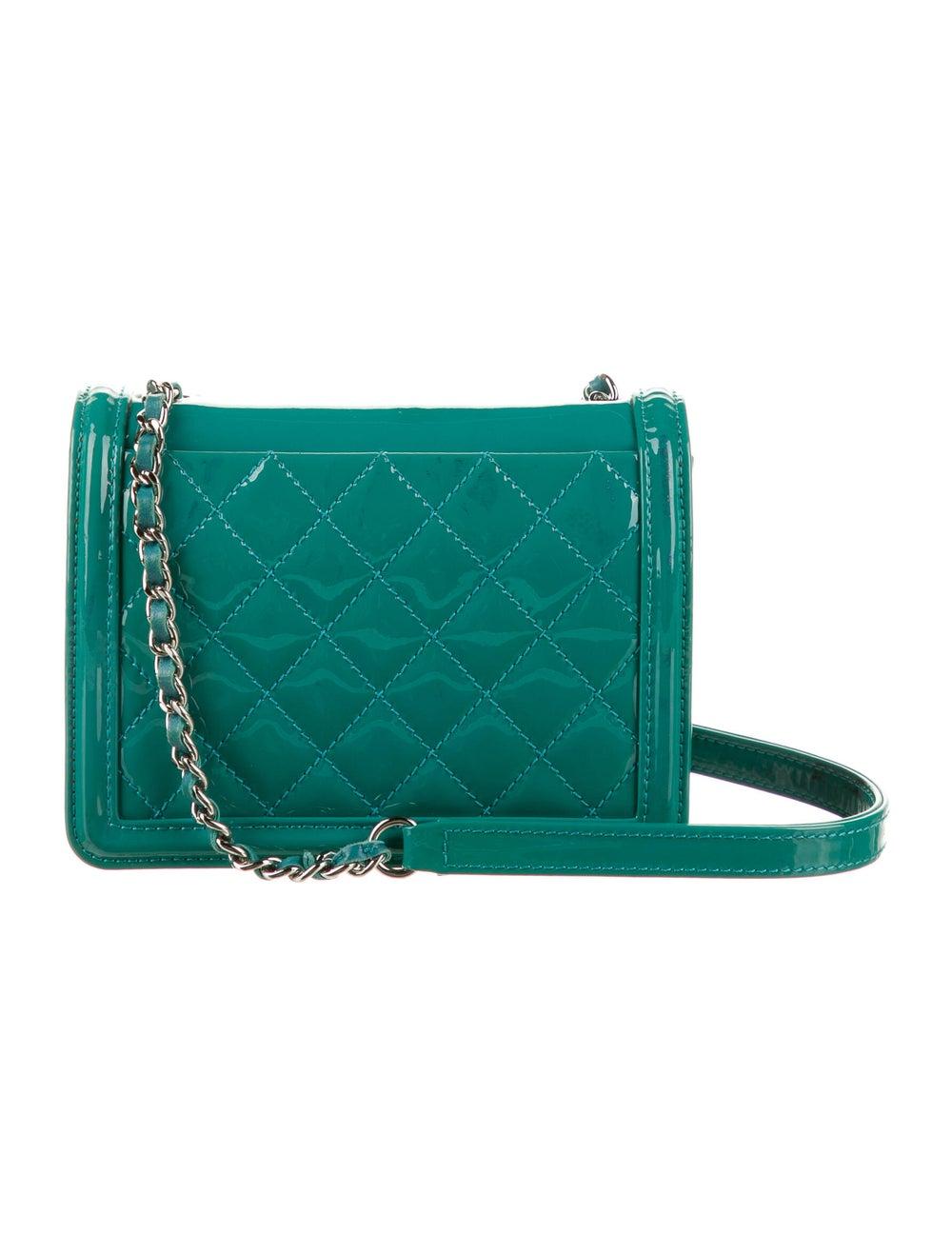 Chanel Boy Brick Flap Bag Blue - image 4