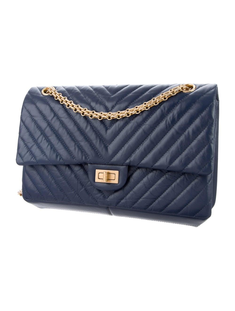 Chanel Chevron Reissue 226 Double Flap Bag Blue - image 3