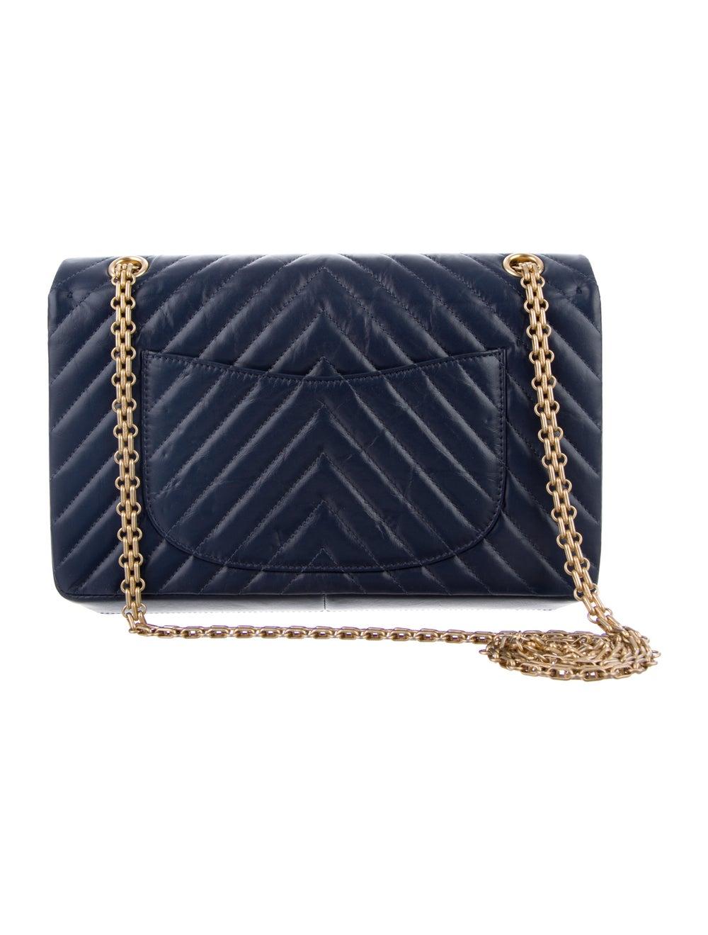 Chanel Chevron Reissue 226 Double Flap Bag Blue - image 4