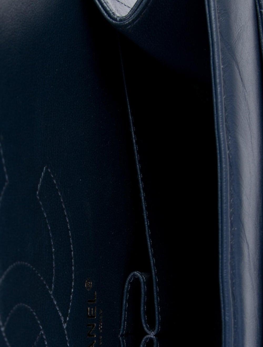 Chanel Chevron Reissue 226 Double Flap Bag Blue - image 5