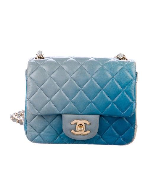 Chanel Classic Degradé Mini Square Flap Bag Blue - image 1