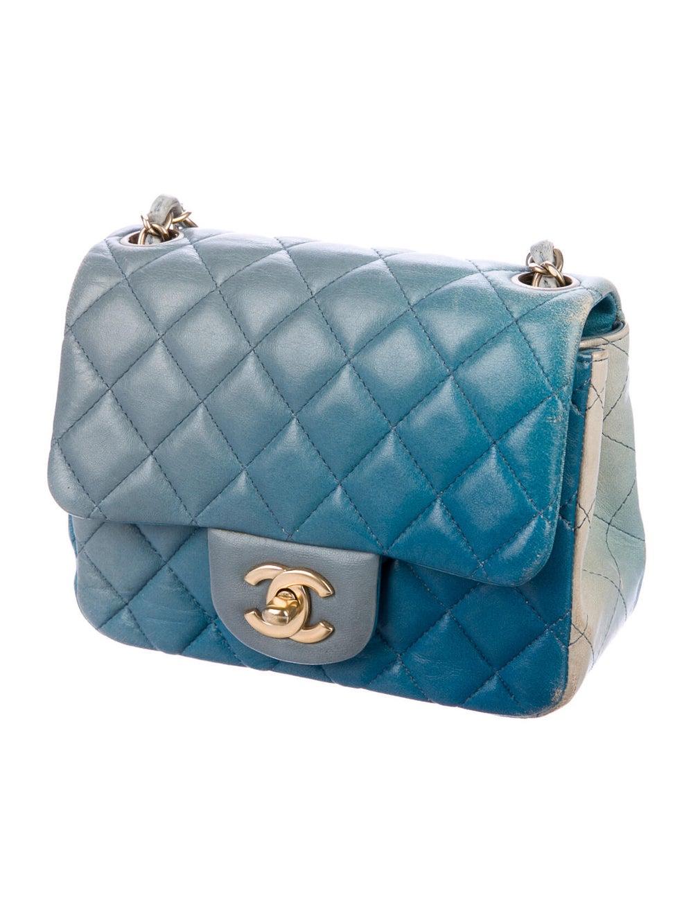 Chanel Classic Degradé Mini Square Flap Bag Blue - image 3