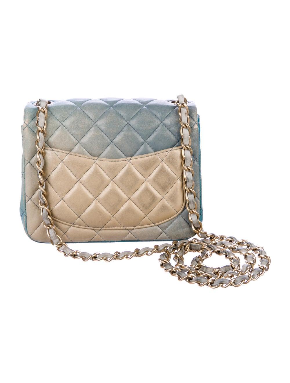 Chanel Classic Degradé Mini Square Flap Bag Blue - image 4