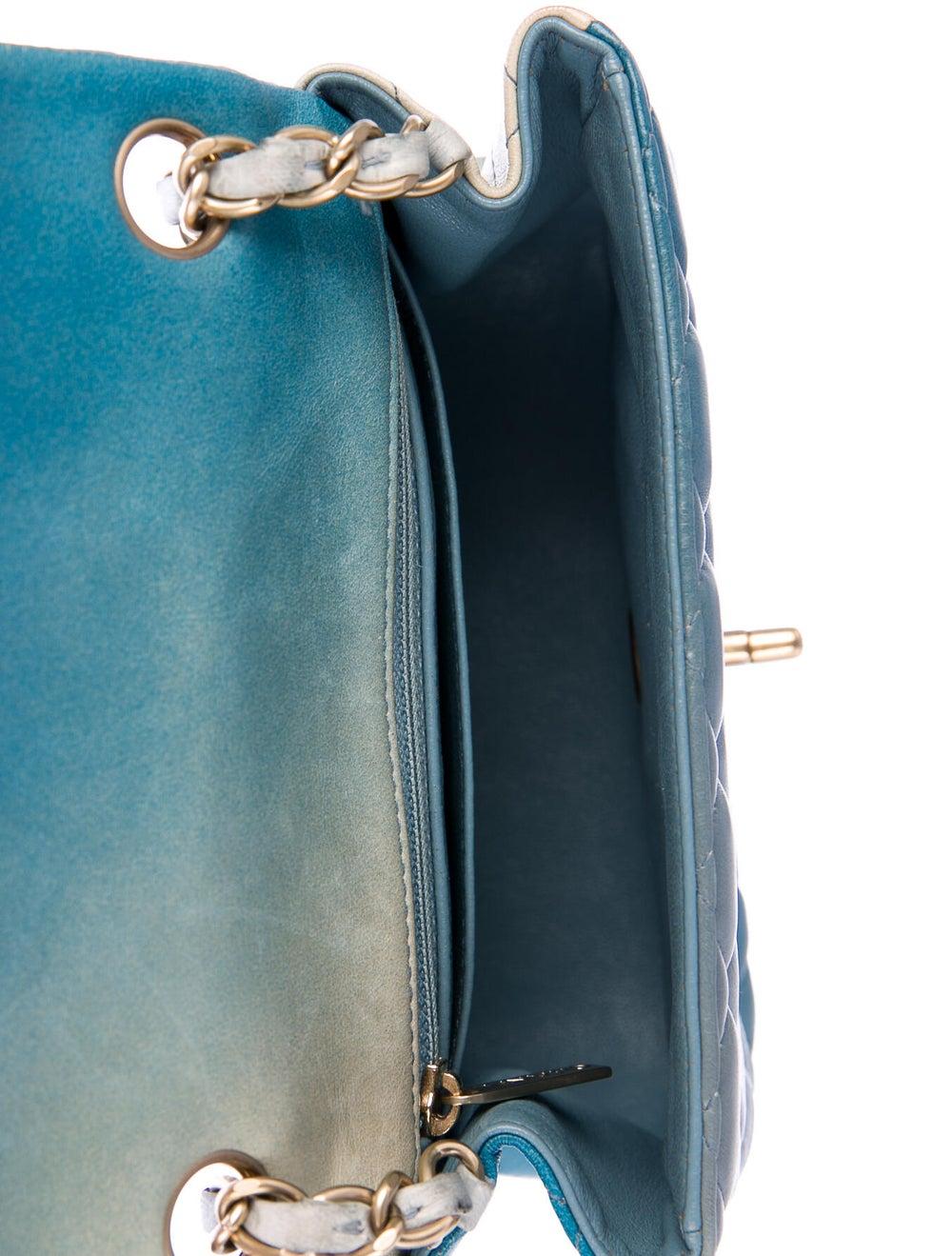 Chanel Classic Degradé Mini Square Flap Bag Blue - image 5