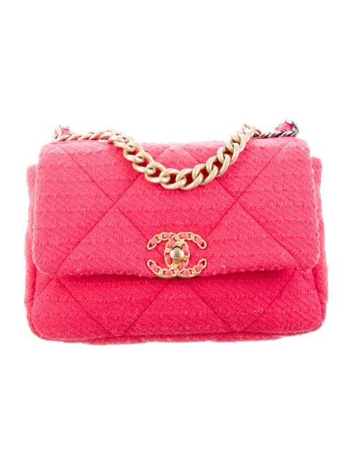 Chanel 2020 Medium Tweed 19 Bag Pink - image 1