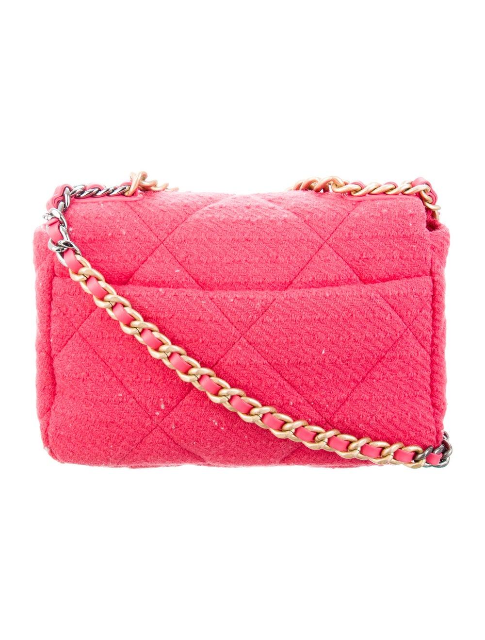 Chanel 2020 Medium Tweed 19 Bag Pink - image 4