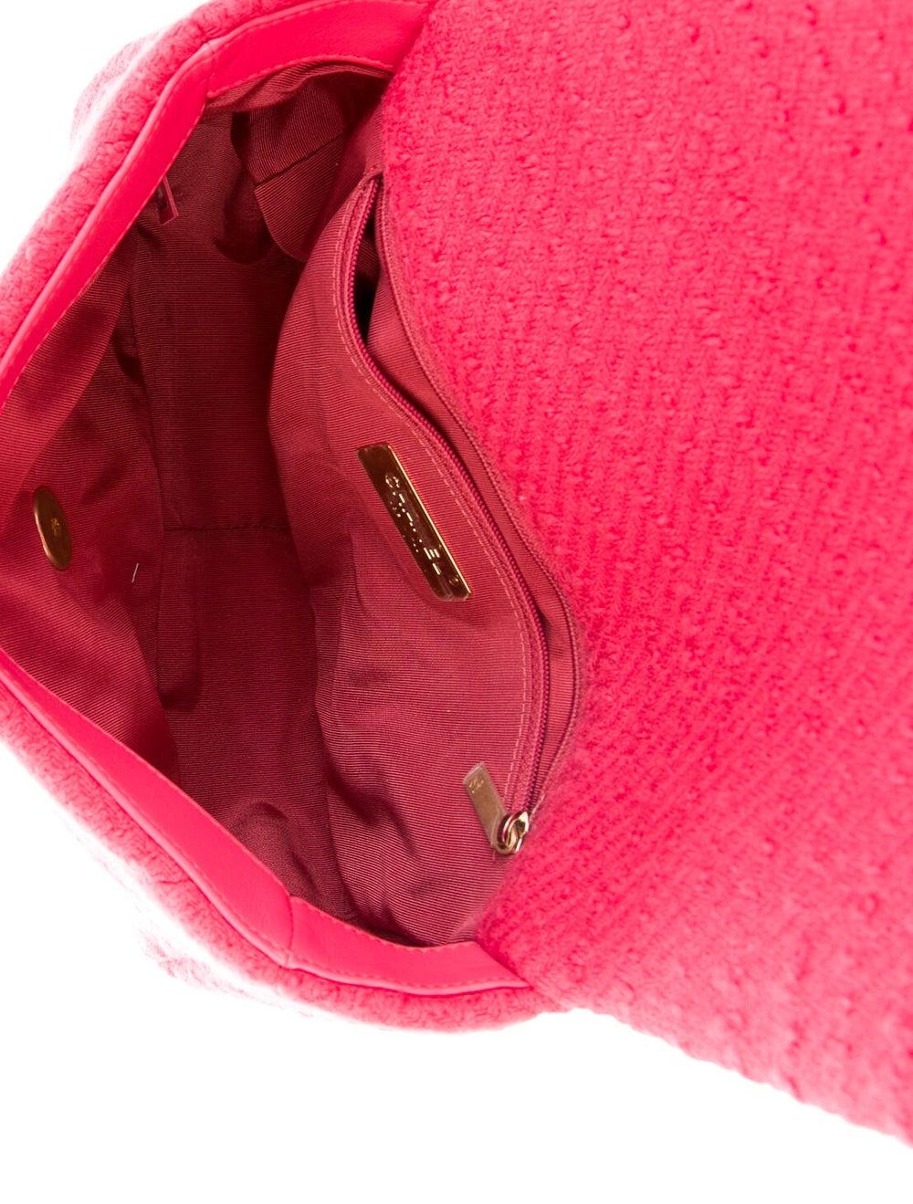 Chanel 2020 Medium Tweed 19 Bag Pink - image 5