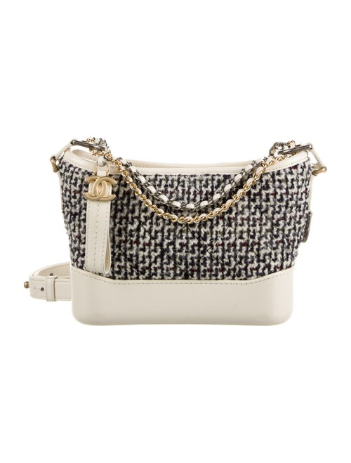 Chanel Tweed Small Gabrielle Bag Blue - image 1