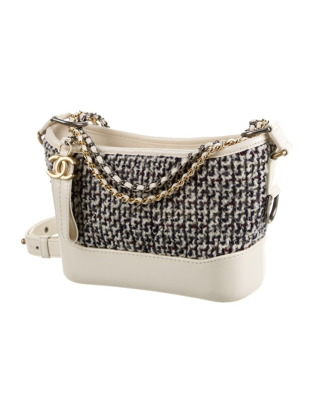 Chanel Tweed Small Gabrielle Bag Blue - image 3