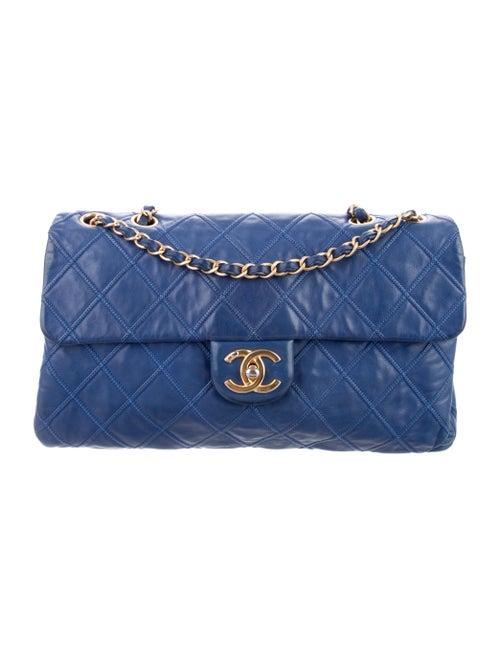 Chanel Thin City Flap Bag Blue - image 1