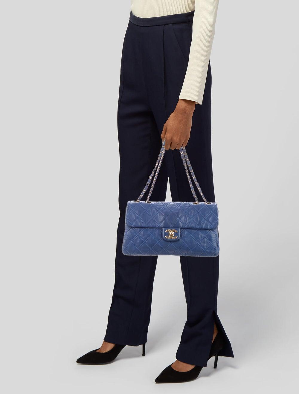 Chanel Thin City Flap Bag Blue - image 2