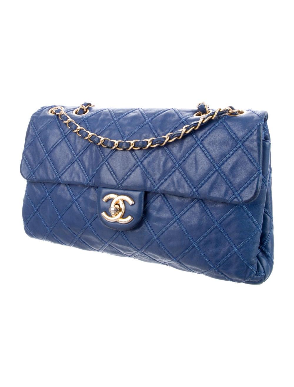 Chanel Thin City Flap Bag Blue - image 3