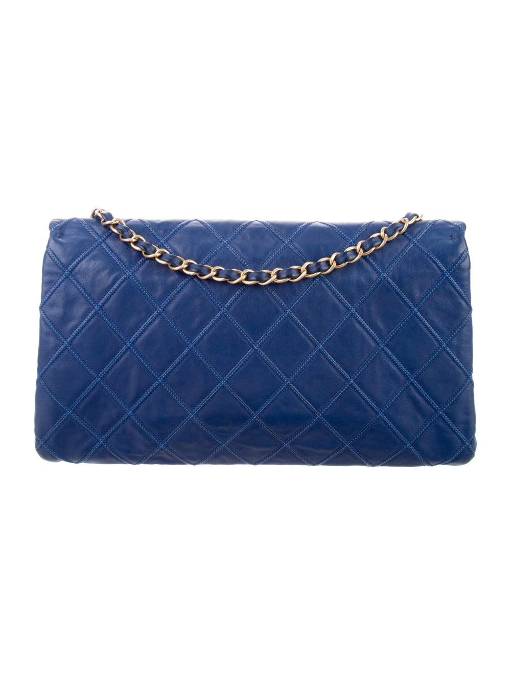 Chanel Thin City Flap Bag Blue - image 4