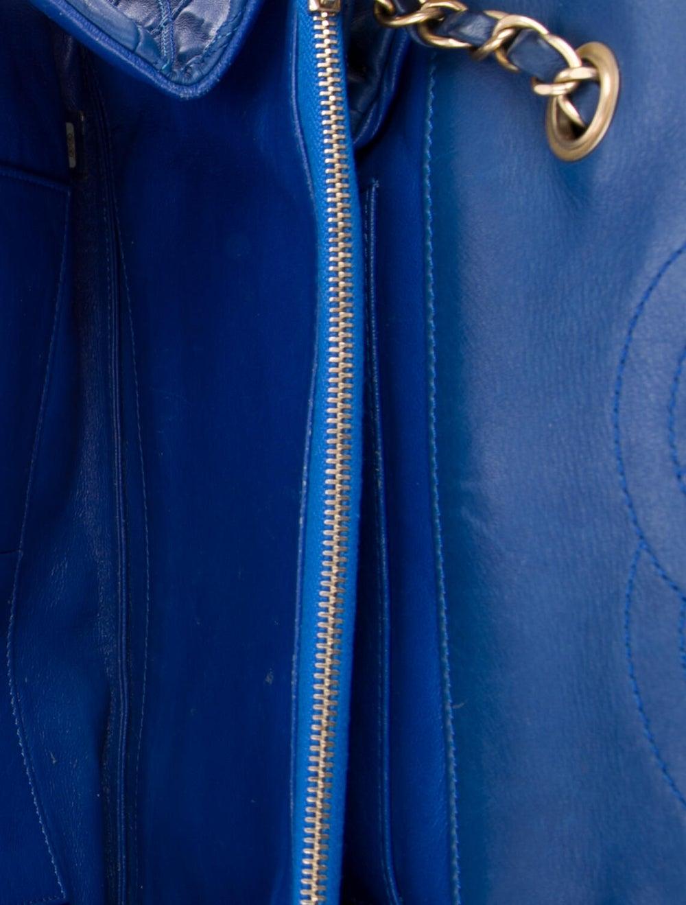 Chanel Thin City Flap Bag Blue - image 5