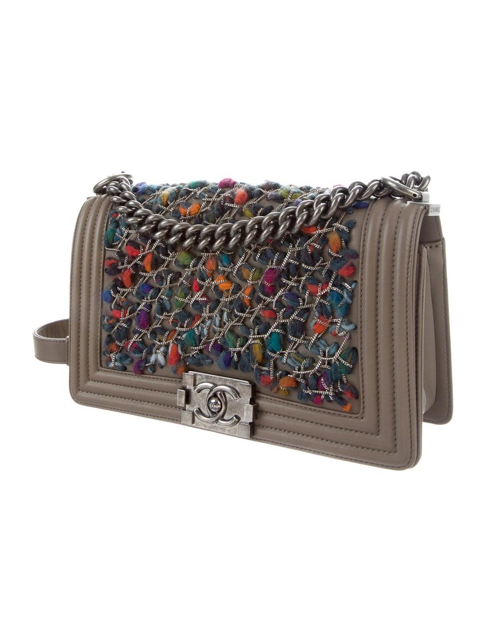 Chanel Medium Tweed Chain Boy Bag Brown - image 3
