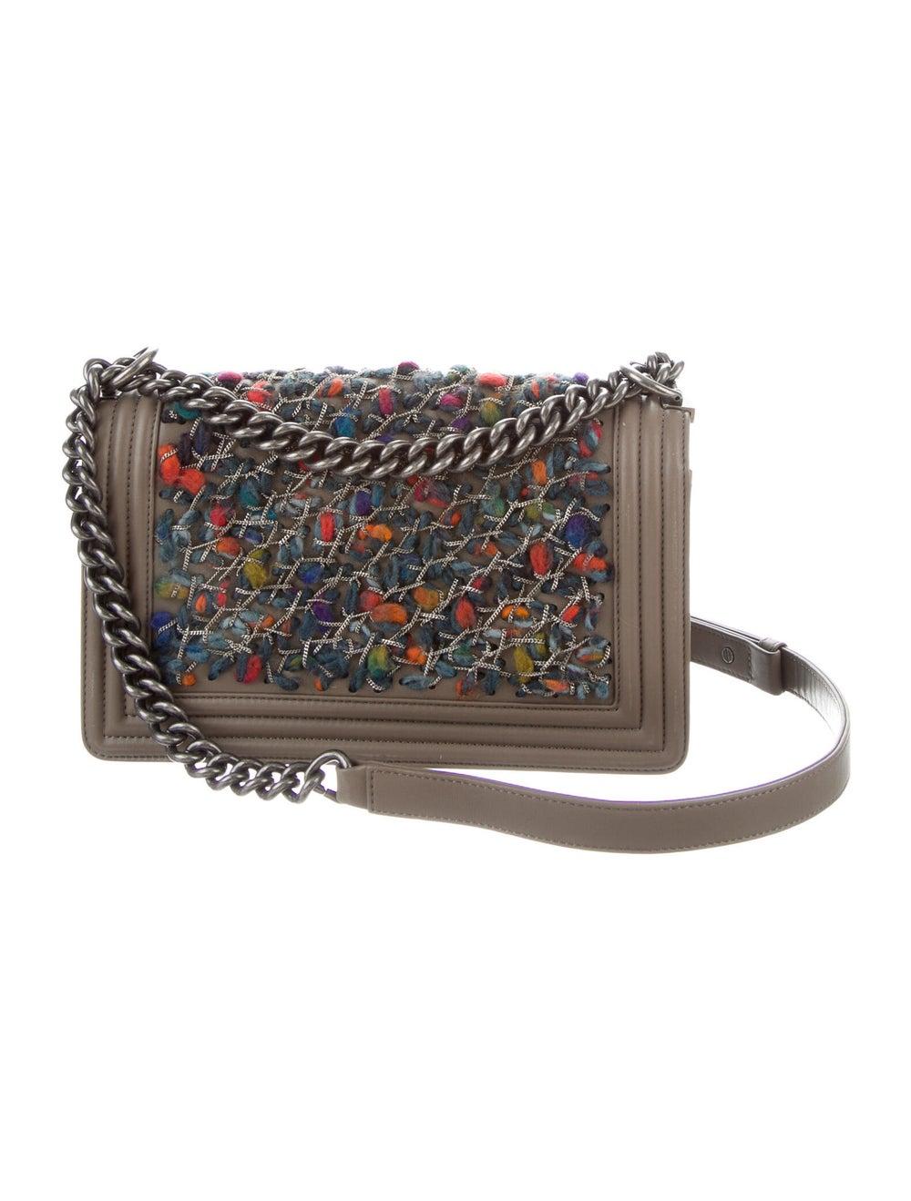Chanel Medium Tweed Chain Boy Bag Brown - image 4