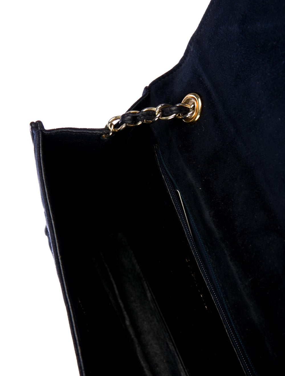 Chanel Vintage Quilted CC Flap Bag Blue - image 5