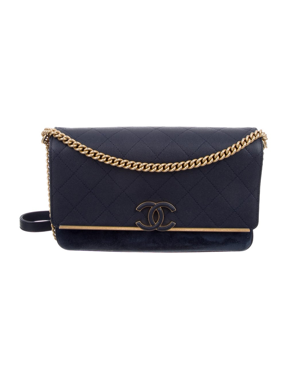 Chanel Suede Lady Coco Flap Bag Blue - image 1