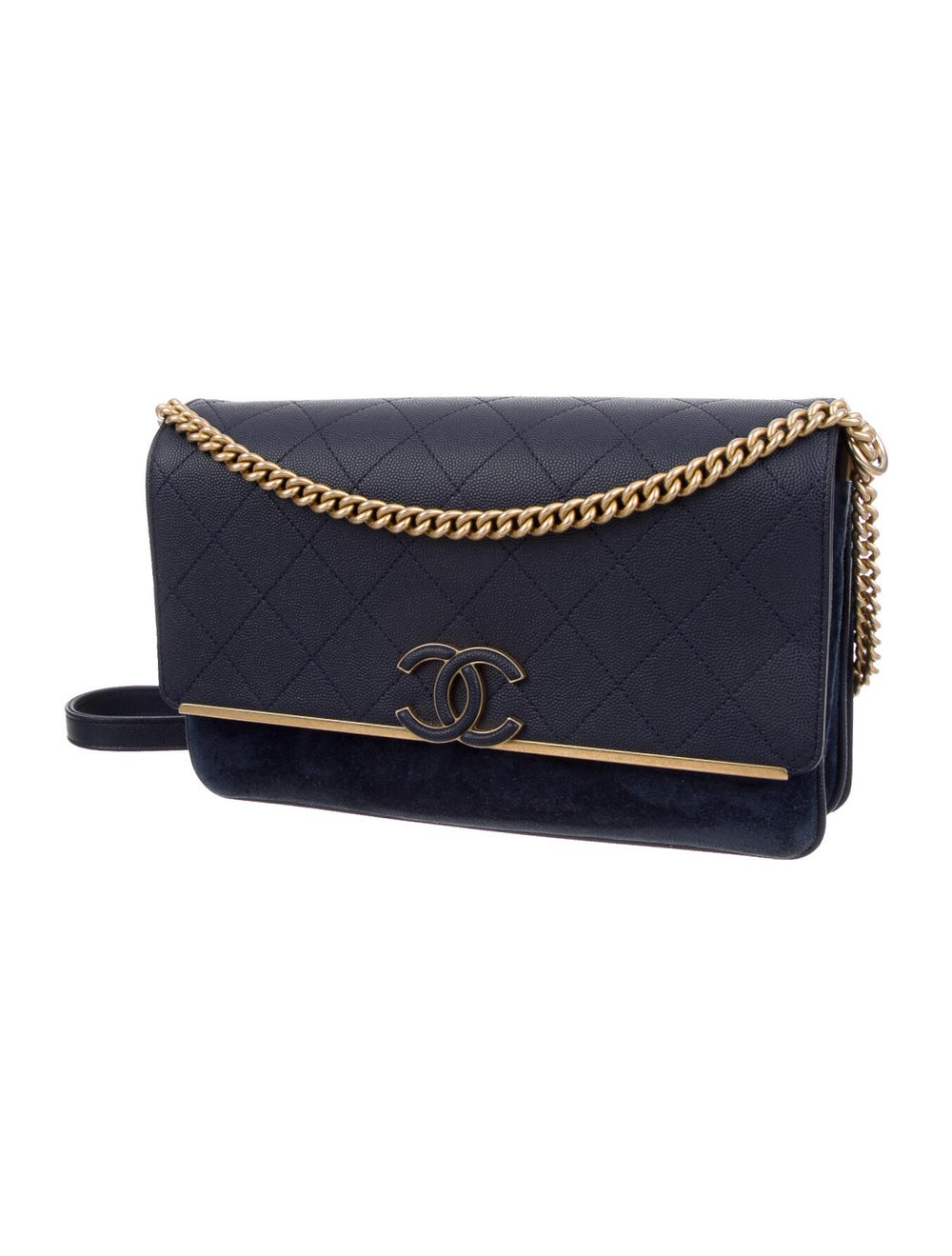 Chanel Suede Lady Coco Flap Bag Blue - image 2