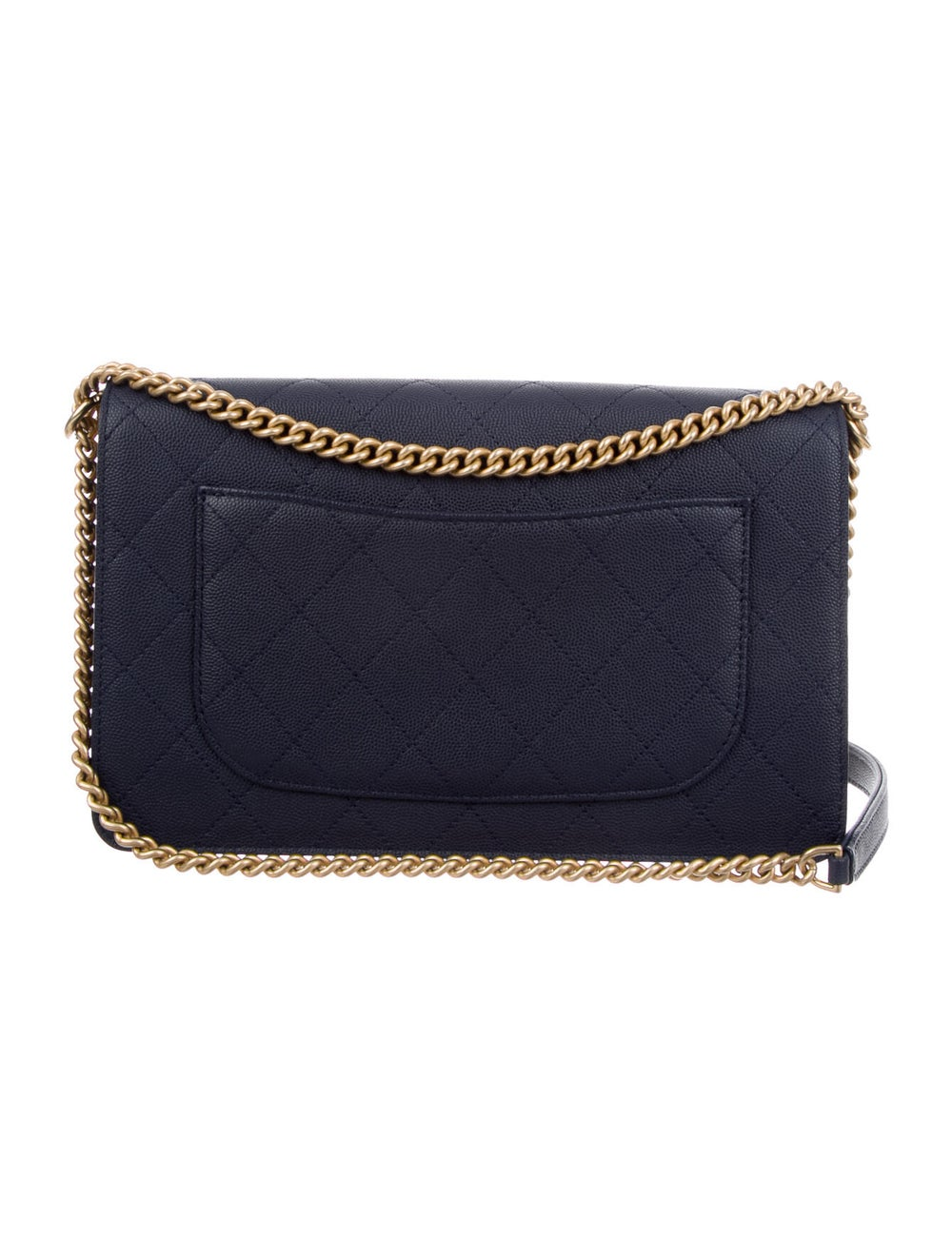 Chanel Suede Lady Coco Flap Bag Blue - image 3