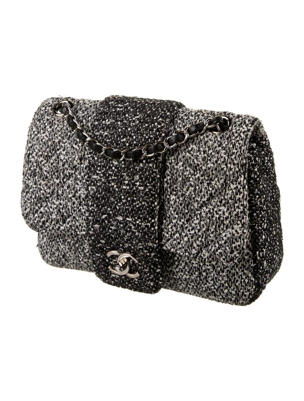 Chanel Tweed Elementary Chic Flap Bag Black - image 3