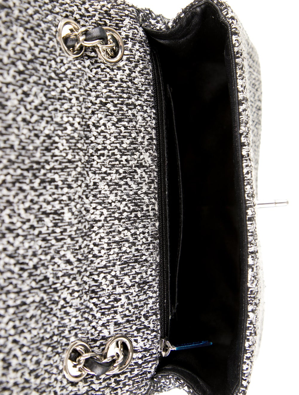 Chanel Tweed Elementary Chic Flap Bag Black - image 5