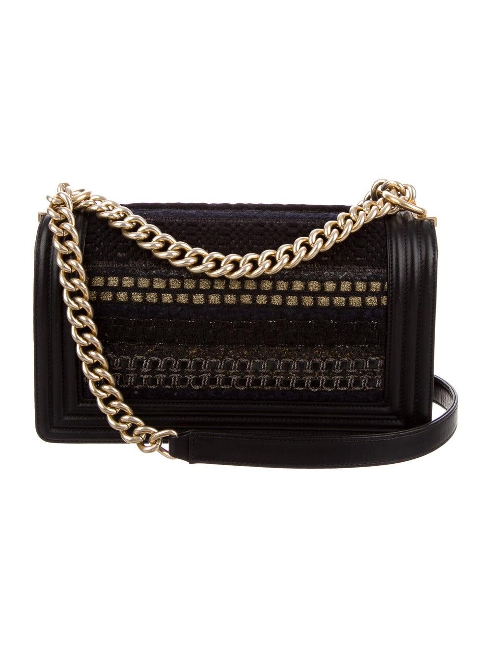 Chanel Medium Tweed Boy Bag Black - image 4