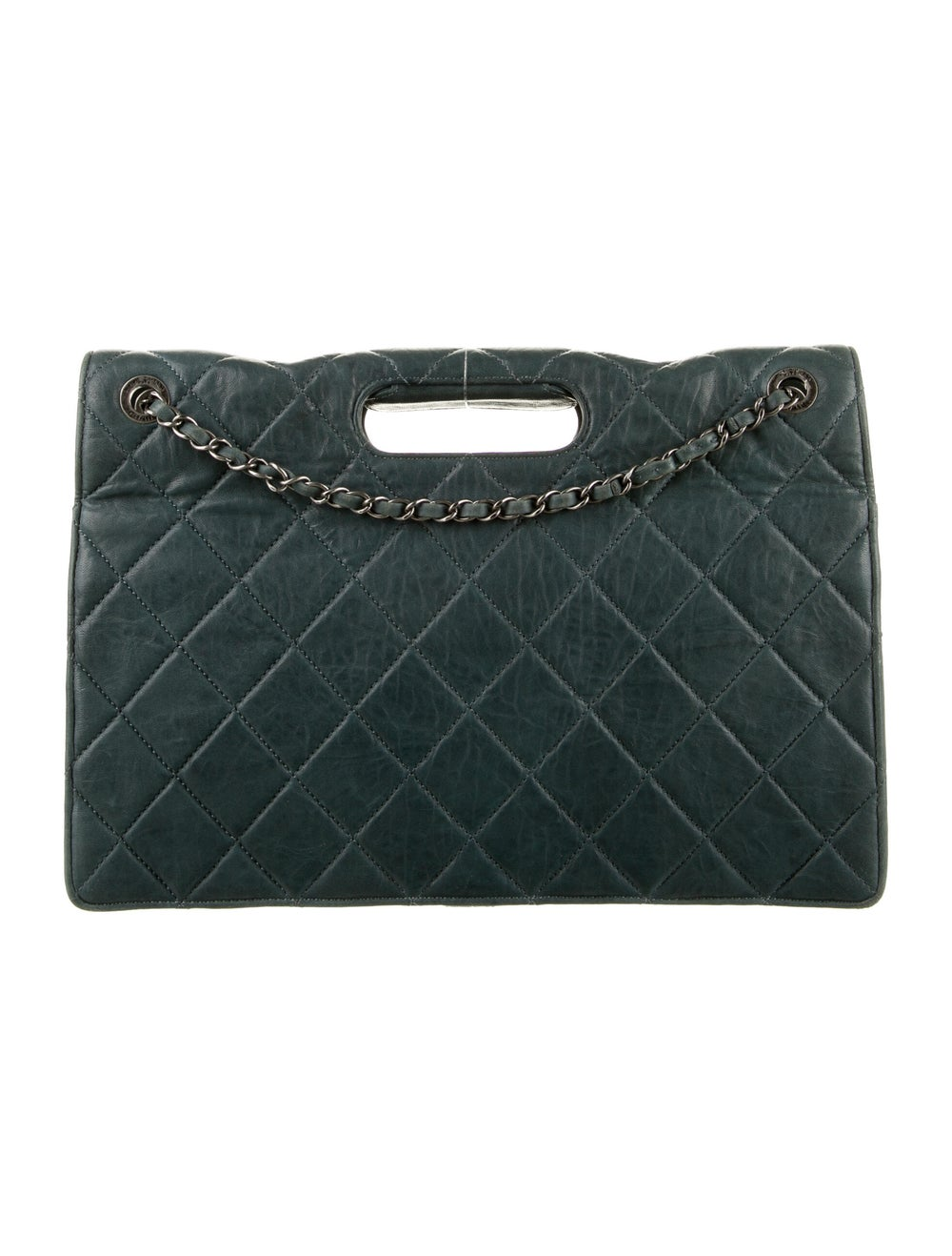 Chanel Paris-Byzance Take-Away Flap Bag Blue - image 4