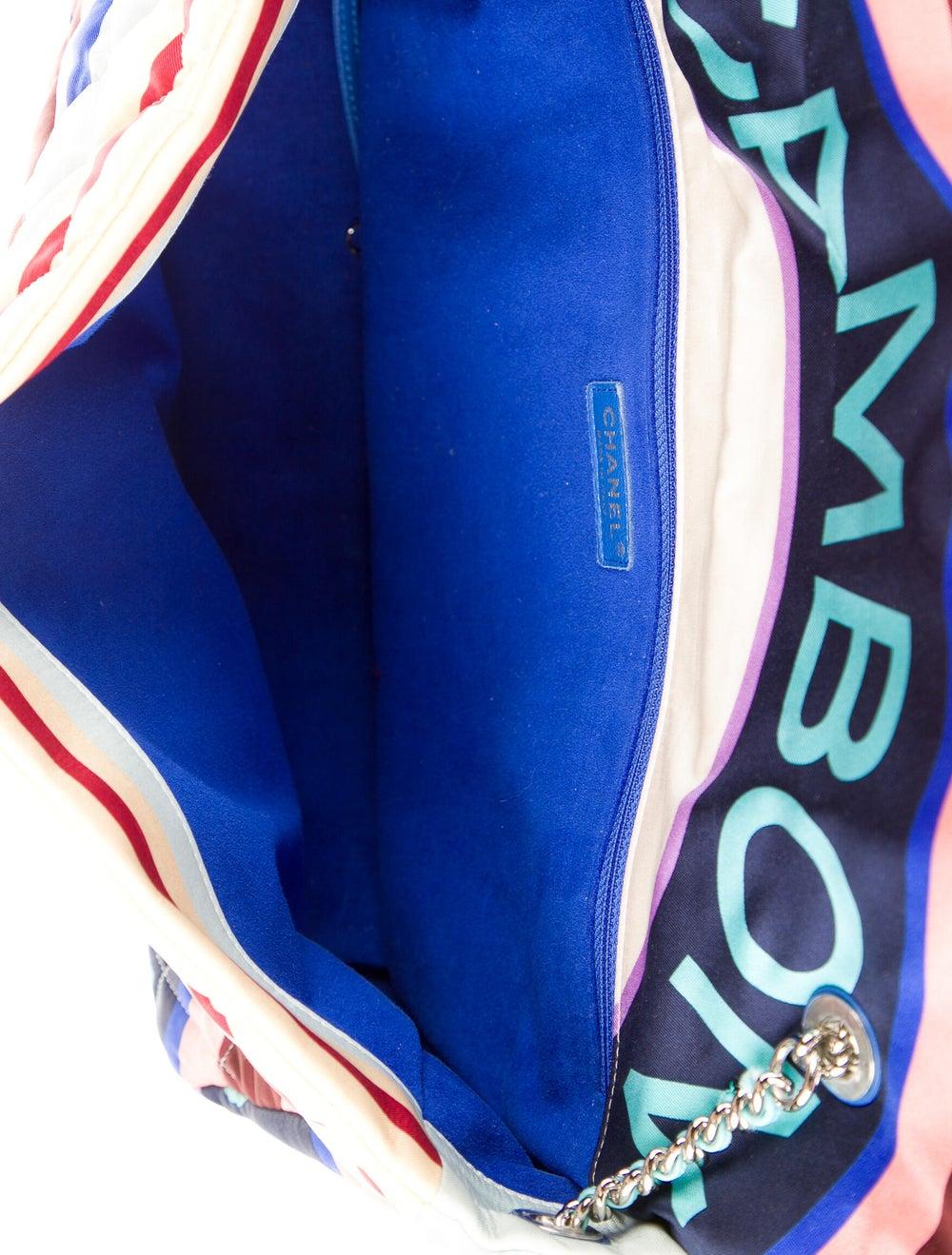 Chanel Large Fabric Foulard Flap Bag Blue - image 5