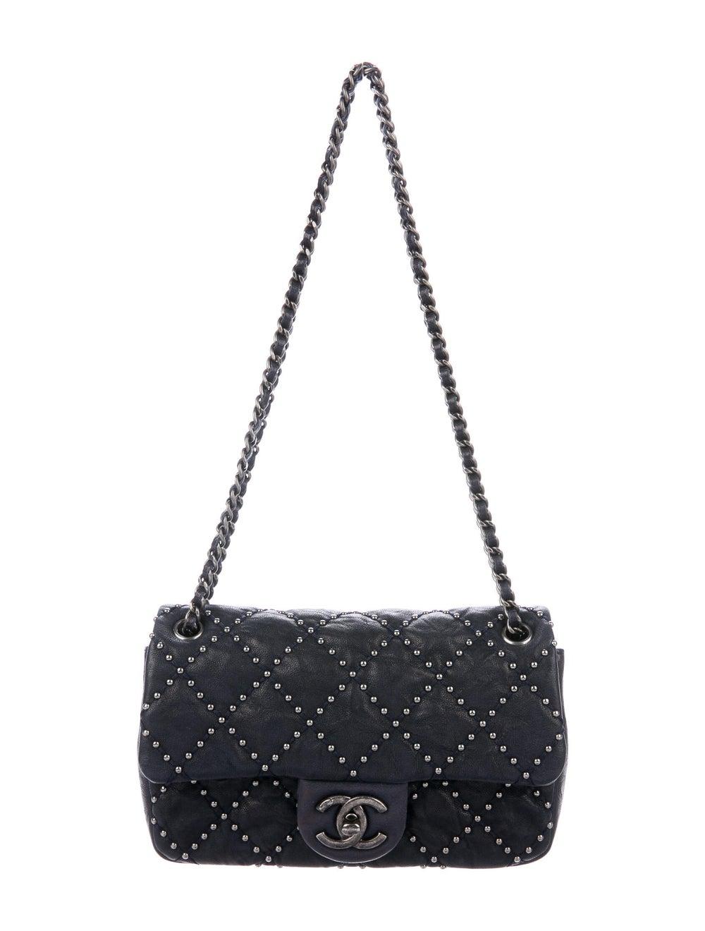 Chanel Metal Beauty Mini Flap Bag Blue - image 1