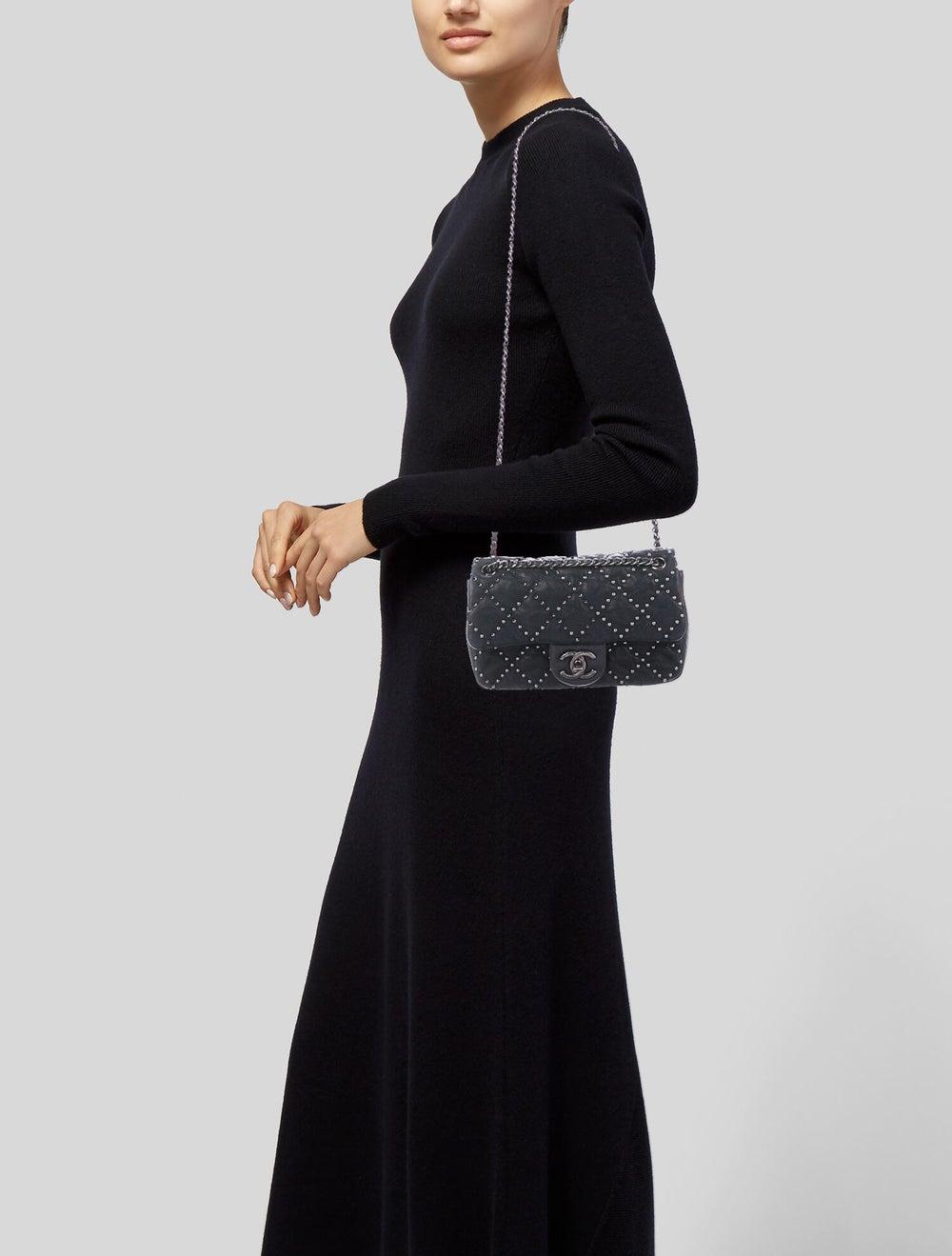 Chanel Metal Beauty Mini Flap Bag Blue - image 2