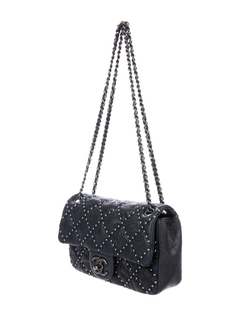 Chanel Metal Beauty Mini Flap Bag Blue - image 3