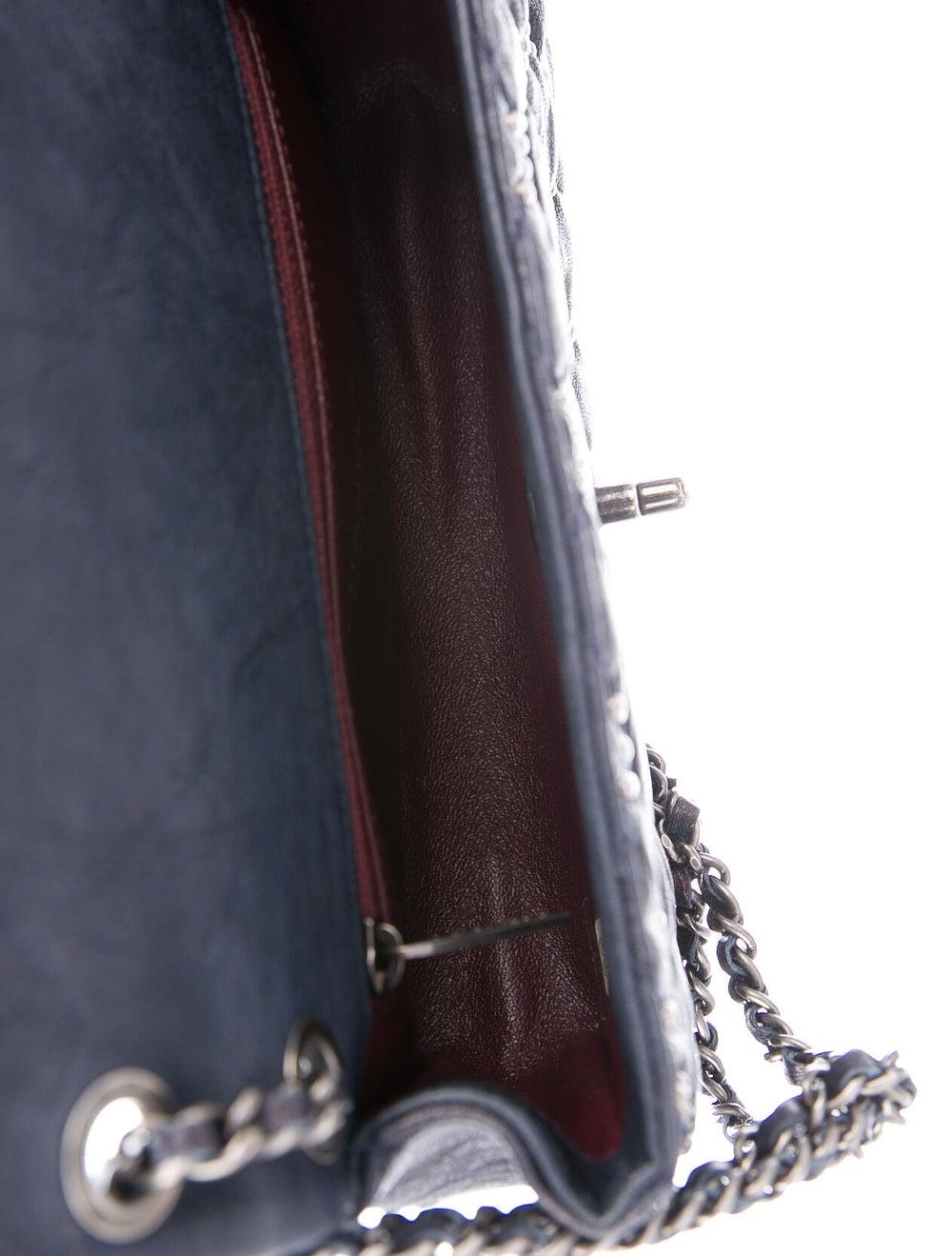 Chanel Metal Beauty Mini Flap Bag Blue - image 5