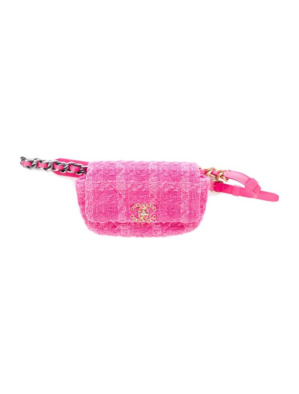 Chanel Tweed 19 Waist Bag Pink - image 1