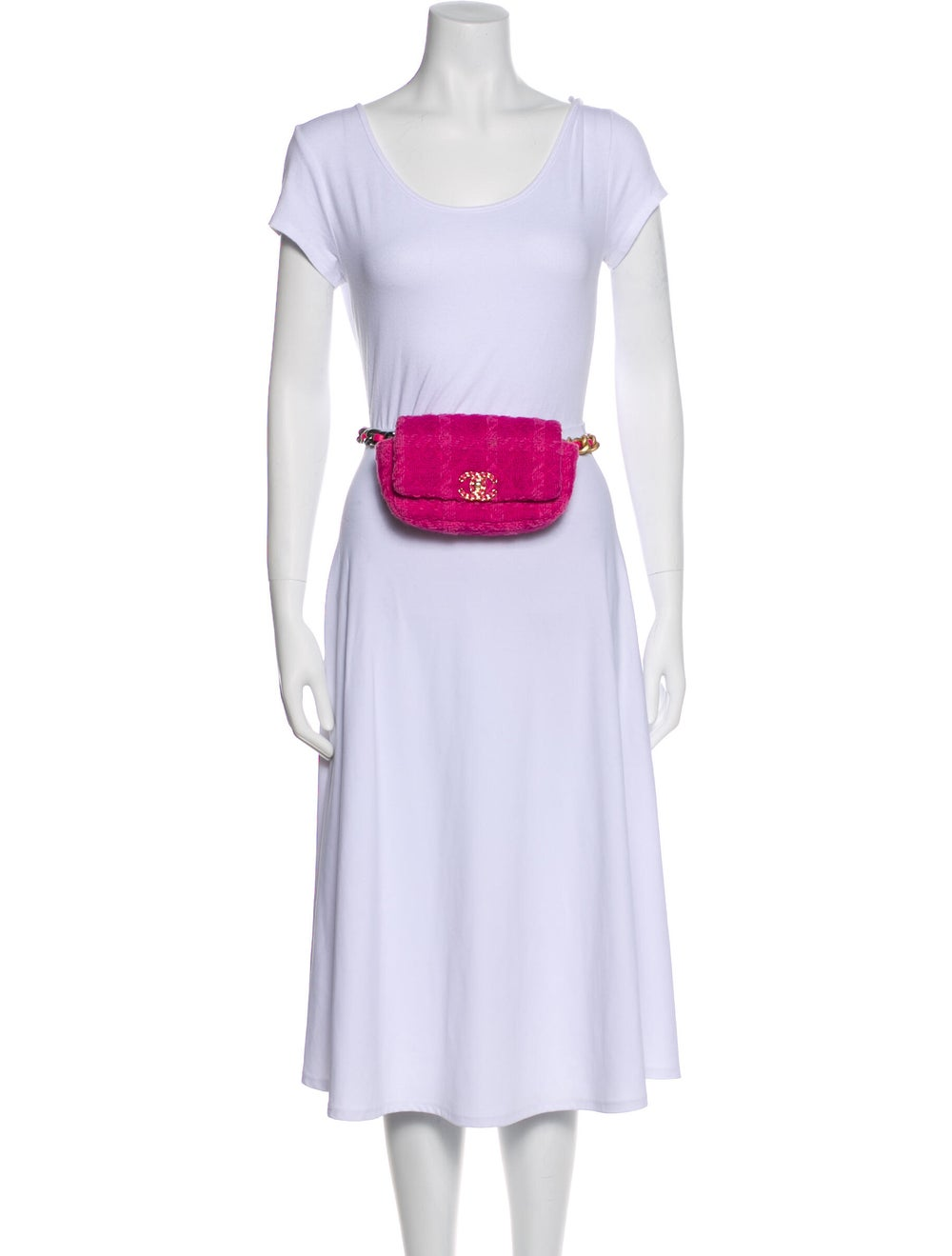 Chanel Tweed 19 Waist Bag Pink - image 3