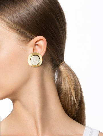 Camellia Clip-On Earrings