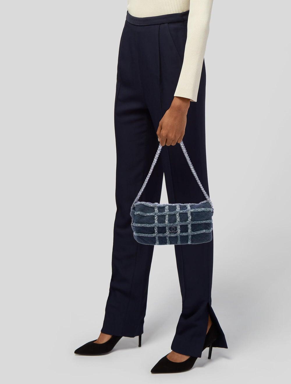 Chanel E/W Denim Flap Bag Blue - image 2