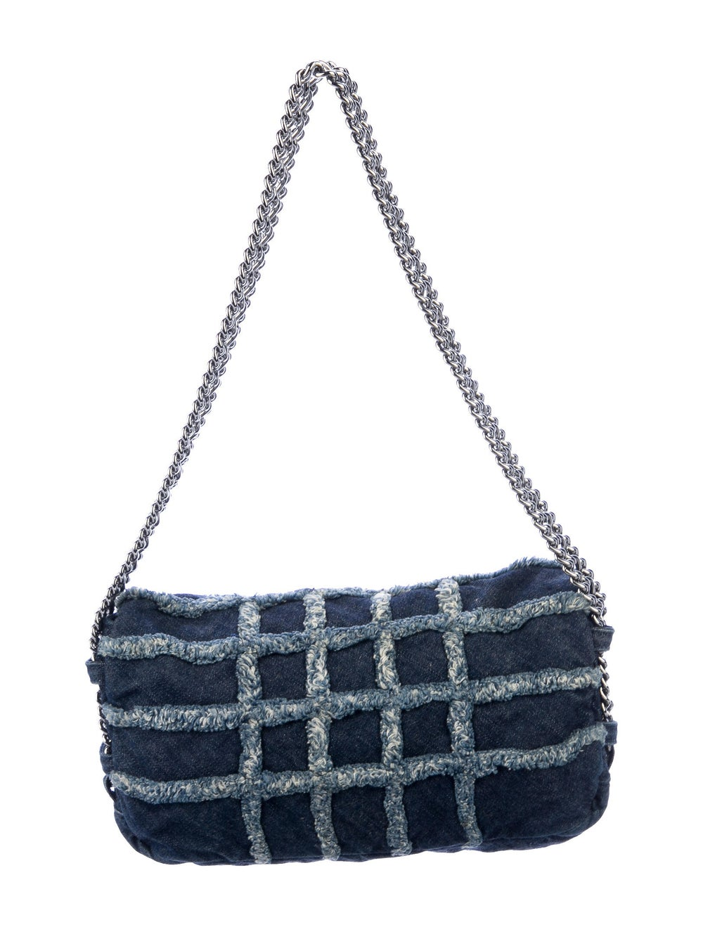 Chanel E/W Denim Flap Bag Blue - image 4